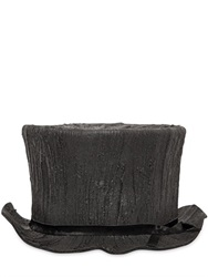 Move Tree Trunk Rubber And Wool Felt Top Hat