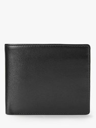 Launer Leather Eight Credit Card Id Window Wallet Ebony Black Scarlet