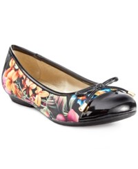 Karen Scott Rylee Flats Only At Macy's Women's Shoes Black Floral
