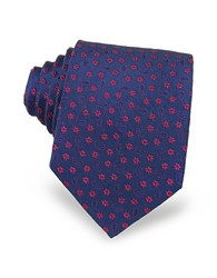 Forzieri Floral And Paisley Woven Silk Men's Tie Purple Red