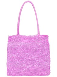 Maryam Nassir Zadeh Valentina Knitted Pouch Bag Pink And Purple