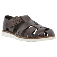 Bertie Fisherman Sporty Sole Leather Sandals Brown