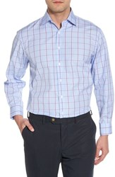 Nordstrom 'S Big And Tall Men's Shop Traditional Fit Plaid Dress Shirt Purple Sparkle