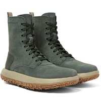 Under Armour Sportswear Rlt Summer Leather Trimmed Suede Boots Gray Green