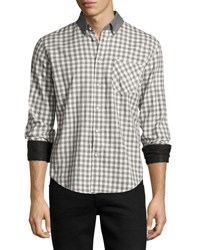 Rag And Bone Yokohama Slim Fit Check Flannel Shirt White Gray Red