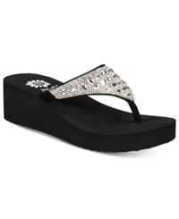 Yellow Box Birder Rhinestone Platform Wedge Sandals Women's Shoes Clear