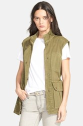 Current Elliott 'The Leisure' Cotton Vest Green