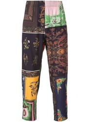 Osklen Patchwork Print Trousers Men Viscose 42
