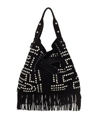 Sam Edelman Emily Studded Suede Bucket Bag Black