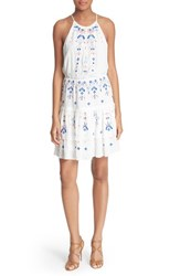 Women's Parker 'Quintana' Embroidered Halter Dress