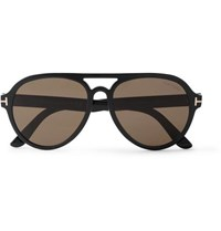Tom Ford Aviator Style Acetate Sunglasses Black
