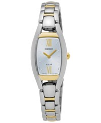 Seiko Women's Solar Sport Two Tone Stainless Steel Bracelet Watch 18Mm Sup318 No Color