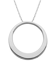 Lord And Taylor Sterling Silver Circle Pendant Necklace