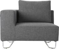 Cb2 Lotus Grey Corner Chair