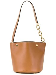 Marni Bucket Tote Bag Brown