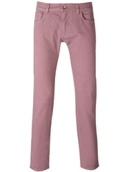 Dolce And Gabbana Slim Fit Jeans Pink And Purple