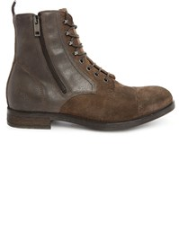 Diesel D Kallien Pr Brown Side Zip Tip Toe Laced Boots
