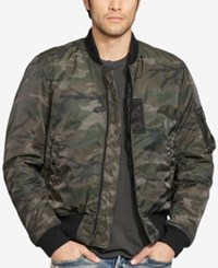 Denim And Supply Ralph Lauren Men's Slim Camo Print Down Bomber Jacket Black