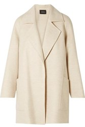 Akris Bessy Cashmere Coat Cream