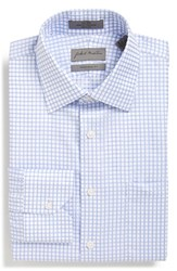 Men's John W. Nordstrom Traditional Fit Non Iron Check Dress Shirt Blue Grapemist