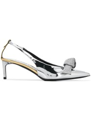 Tom Ford Knot Detail Pumps Metallic