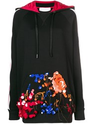 No Ka' Oi Embellished Pocket Hoodie Black