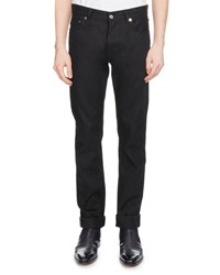 Berluti Straight Leg Cotton Jeans Black Noir