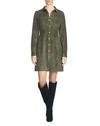 1.State Long Sleeve Shirt Dress Olive Tree