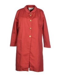 .. Merci Merci Full Length Jackets Red