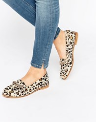 Park Lane Chain Trim Moccasin Leopard Pony Multi
