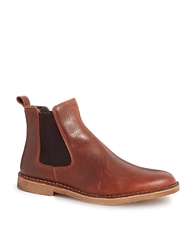 Selected Homme Shearling Look Chelsea Boots Brown