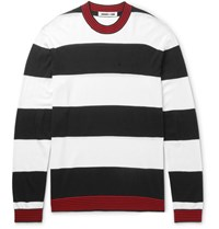 Mcq By Alexander Mcqueen Striped Wool Sweater Black