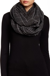 Cejon Window Pane Infinity Scarf Gray