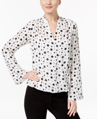 Inc International Concepts High Low Star Print Blouse Only At Macy's Scattered Stars