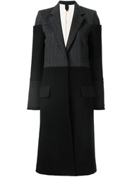 Vera Wang Tiered Shoulder Reefer Coat Black