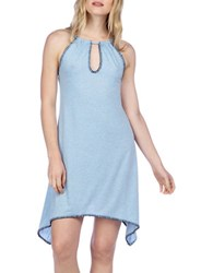 Lucky Brand Solid Cover Up Dress Chambray