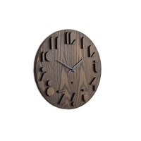 Umbra Shadow Wall Clock Walnut