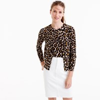 J.Crew Lightweight Wool Jackie Cardigan Sweater In Leopard