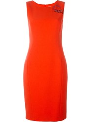 Emilio Pucci Embellished Fitted Dress Yellow And Orange