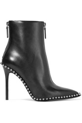 Alexander Wang Eri Studded Leather Ankle Boots Black