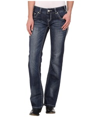 Rock And Roll Cowgirl Low Rise Bootcut In Dark Vintage W0 2442 Dark Vintage Women's Jeans Navy