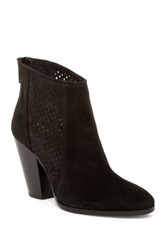 Diane Von Furstenberg Auletta Perforated Bootie Black