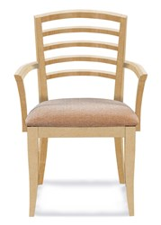 Saloom Furniture Model 27 Peter Francis Arm Chair 27Au Natural Natural Impression Impression Beige