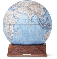 Linley Mini Desk Globe Brown