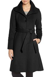 Eliza J Women's Luxe Wool Blend Belted Long A Line Coat