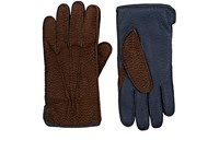 Barneys New York Men's Colorblocked Leather Gloves Brown