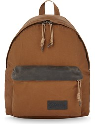 Eastpak Axer Padded Pak'r Coated Canvas Backpack Brown