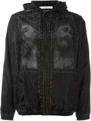 Givenchy Christ Print Windbreaker Jacket Black