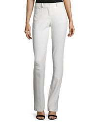 Halston Slim Boot Cut Pants Chalk