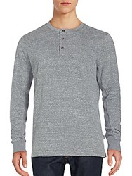 Threads For Thought Organic Cotton Blend Henley Heather Grey
